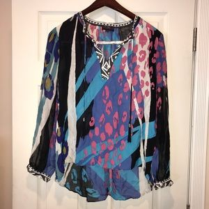 Colorful print blouse